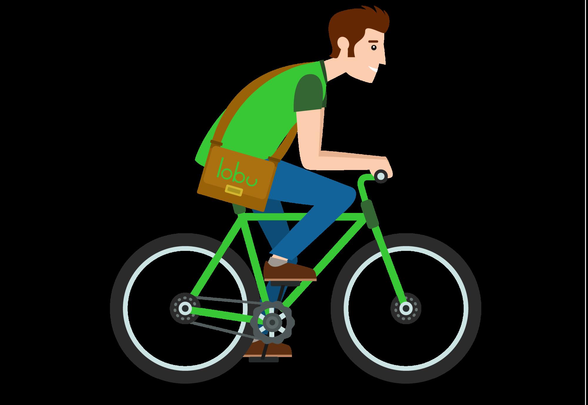 Lobu beschäftigt Fahrradboten, um Bücher auszuliefern